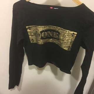H&m Dollar Bill Crop Top