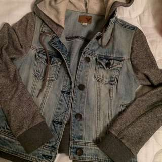 American Eagle Sweater Denim Jacket