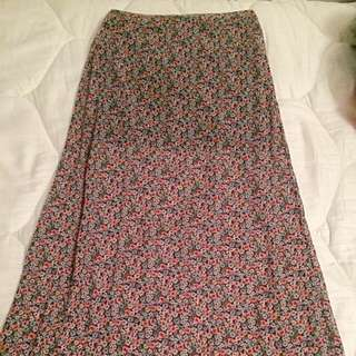 Abercrombie Kids Floor Length Floral Skirt