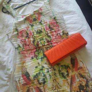 Races Outfit Bodycon Dress And Clutch