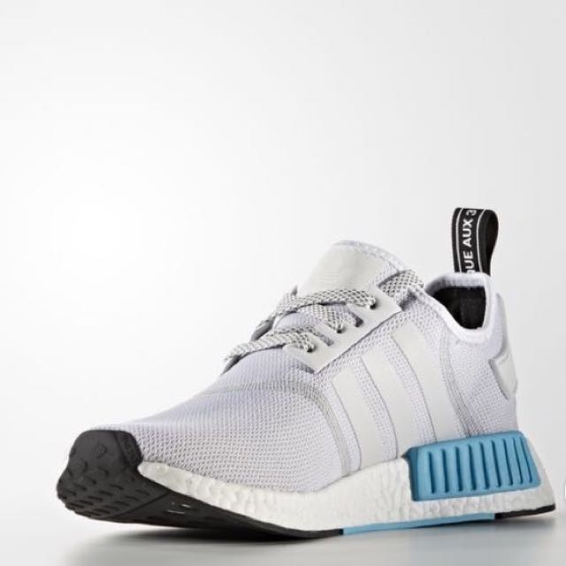 05245490c 100% Authentic   New Adidas NMD R1 White  Cyan