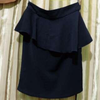 Peplum Skirt Black