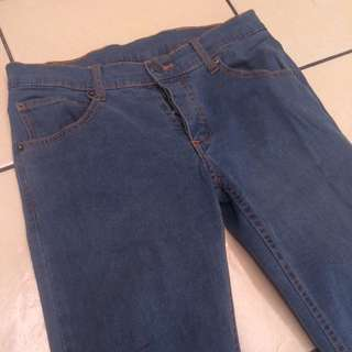 Cheap Monday Blue Narrow Stretched Jeans Size 29-30