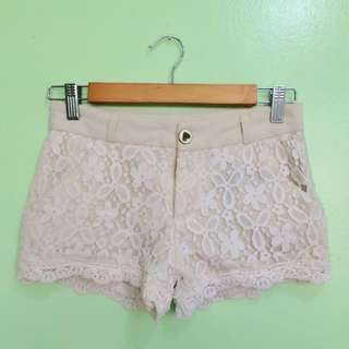 Lace Mini Shorts