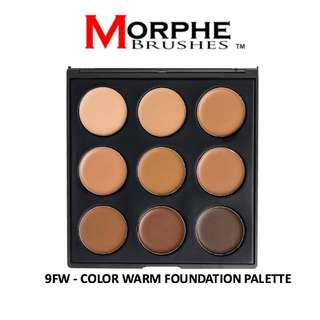 NEW! MORPHE 9FW Color Warm Foundation Palette