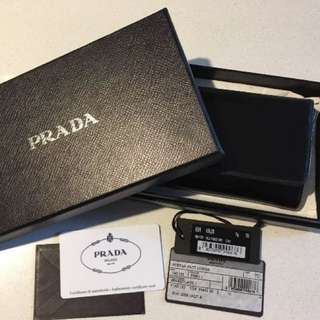Authentic Prada Wallet Black Leather