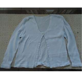 Pre-loved Baby Blue Knitted Cardigan