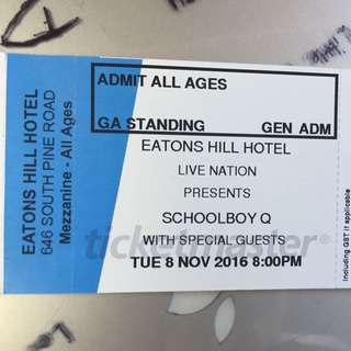 Schoolboy Q Brisbane Ticket