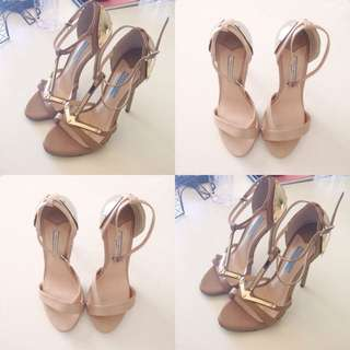 Tony Bianco Nude Gold Plated Heels