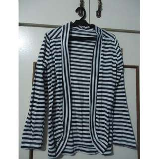 Pre-loved Blue and White Striped Cardigan