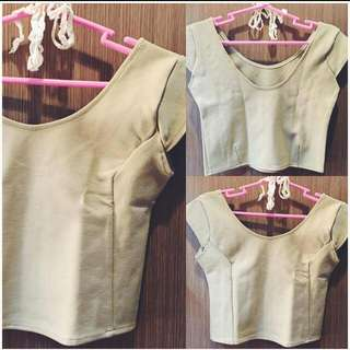 Pre Loved Items Are Repriced! Get This Beige Crop Top For As Low As 80 Php!