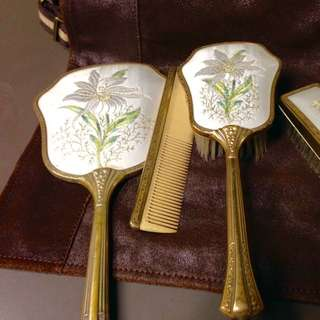 Petitpoint Embroidery Dressing Table Set  by Delina