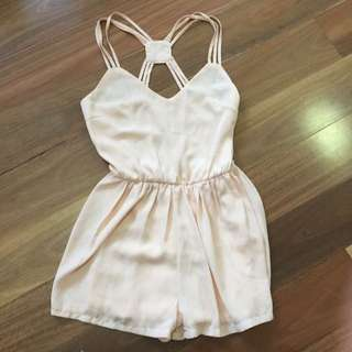 Baby Pink Strappy Playsuit