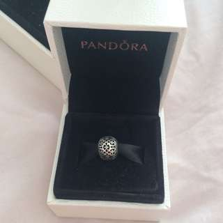 authentic pandora charm - shimmering lattice charm silver