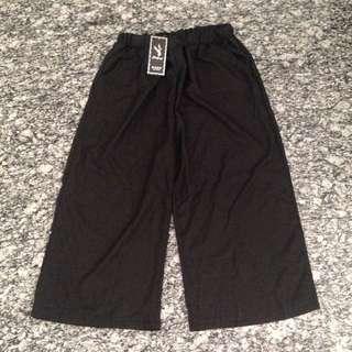 BNWT Black wide leg culottes with pockets - XXL