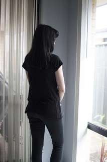 Black Cotton On T-shirt with pocket