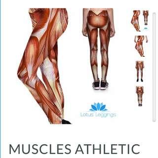 Muscle Print Lotus Leggings