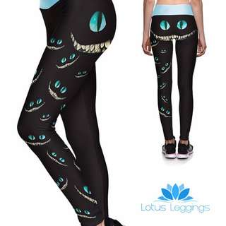 Alice In Wonderland Theme Lotus Leggings