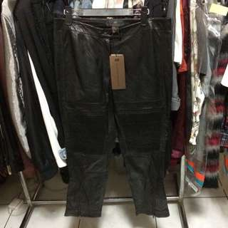 H&M Leather Biker Pants