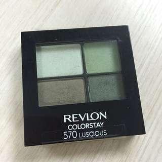 Revlon 持久16小時眼影 四色Eyeshadow Color Stay 眼影盤 不脫色 墨綠 啡綠