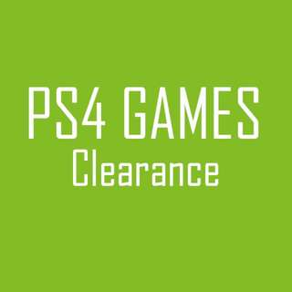 PS4 Games Clearance Cheap