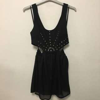Cutout Dress w/ bronze embellishment