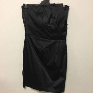 Little Black Satin Dress