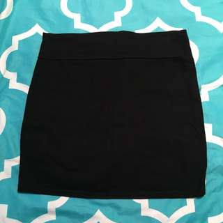 Black Tight fit skirt