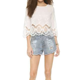 Glamorous White Lacey Blouse