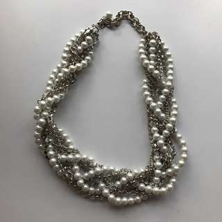 ALDO pearl & chain necklace