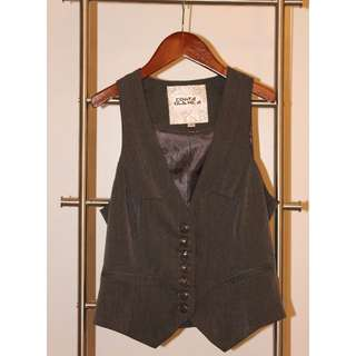 BRAND NEW Grey Vest with Satin Lining (GREY, SIZE 2).