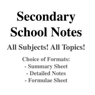 Secondary School Notes (All Subjects and Topics)