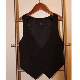 H&M Tuxedo Style Vest (BLACK, SIZE US 4)