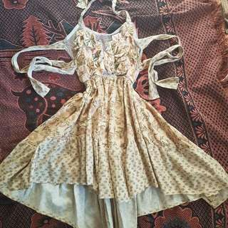 Fabled And True Vintage Fabric Dress Boho Gypsy