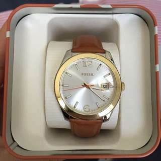 Authentic Fossil Brown Leather Watch
