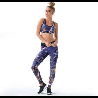 DoYouEven Galaxy Marble Leggings And Sport Bra