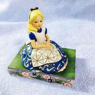 迪士尼 愛麗絲夢遊仙境 木雕公仔 雕像 精品美品