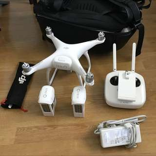 DJI Phantom 4 With 3x Batteries + Backpack