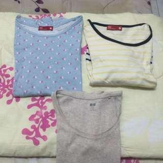 PADINI & UNIQLO Long Sleeve Tshirts