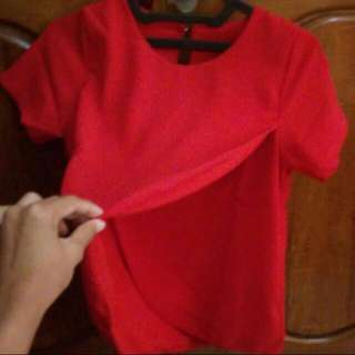 Chili Red Blouse Preloved