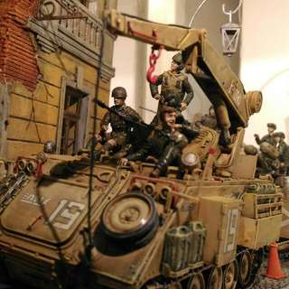 Battle Of Suez, Oct. 1973. IDF Forces Reach The Apex Of Their Advance In The Sinai, Cutting Off The Egyptian 3rd Army. 1/35 Scale Diorama.