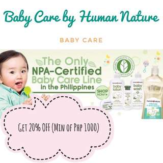Baby Care Products By Human Nature