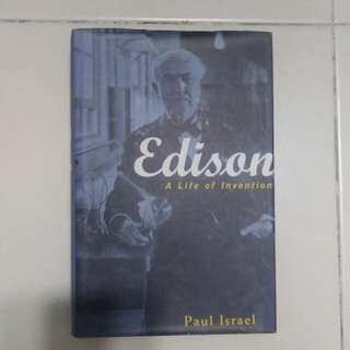 Edison Book Edison A Life of Invention by Paul Israel