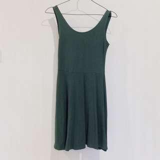Topshop Basic Dress (Army Green)