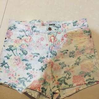 Floral Highwaist Shorts