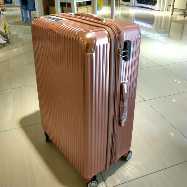 玫瑰金29吋 加大 雙輪 TSA鎖
