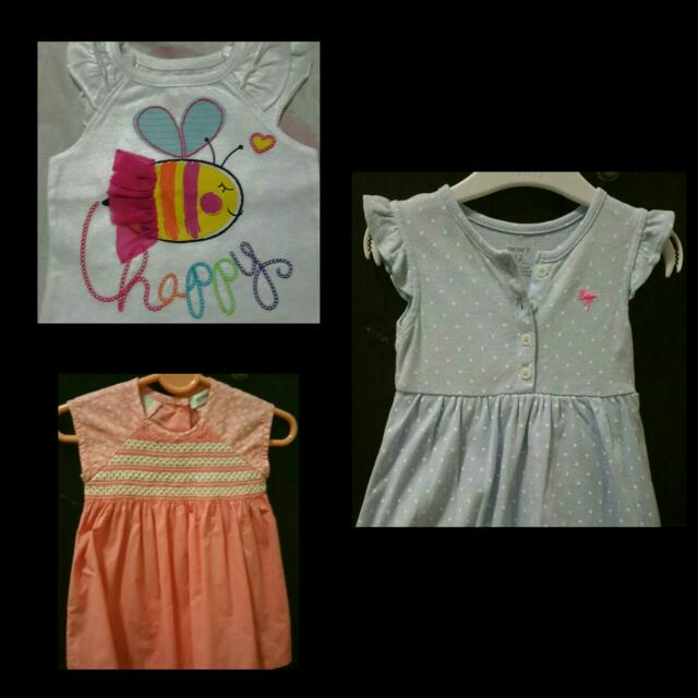 2 Baby Girls Dress and Blouse