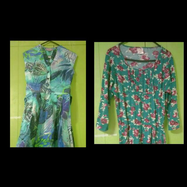 2 Printed Dress for 300 free shipping for this item