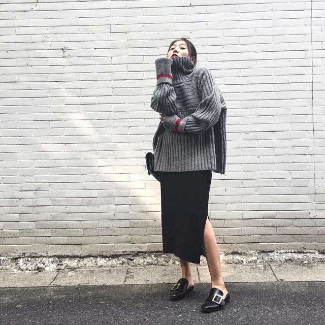韓國訂製款 針織 寬鬆 毛衣