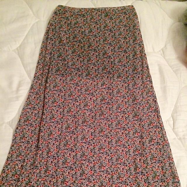 Abercrombie Kids Floor Length Floral Skirt